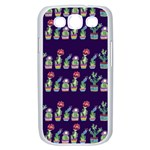 Cute Cactus Blossom Samsung Galaxy S III Case (White) Front
