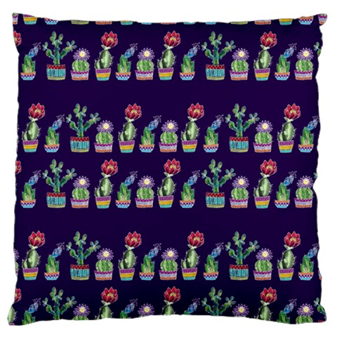 Cute Cactus Blossom Large Cushion Case (One Side)