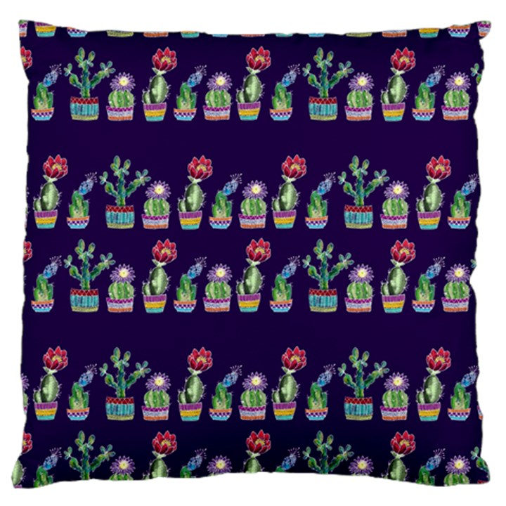 Cute Cactus Blossom Large Cushion Case (Two Sides)
