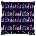 Cute Cactus Blossom Large Cushion Case (Two Sides) Back