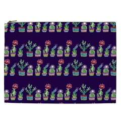 Cute Cactus Blossom Cosmetic Bag (XXL)