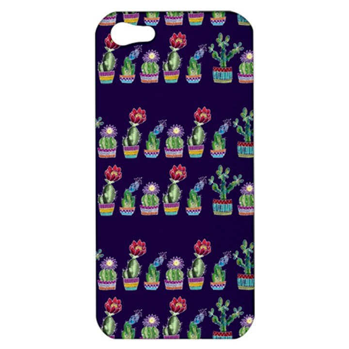 Cute Cactus Blossom Apple iPhone 5 Hardshell Case