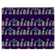 Cute Cactus Blossom Cosmetic Bag (xxxl)