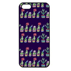 Cute Cactus Blossom Apple Iphone 5 Seamless Case (black)