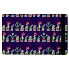 Cute Cactus Blossom Apple iPad 2 Flip Case