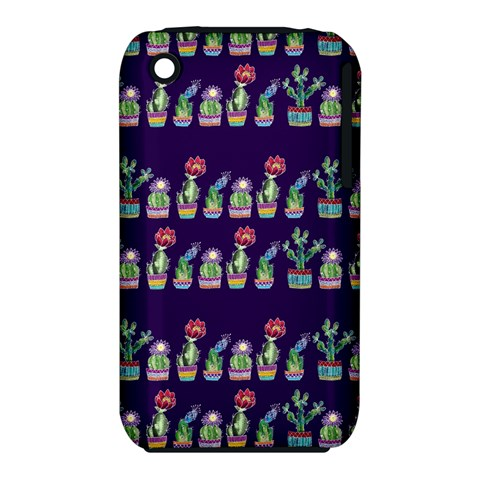 Cute Cactus Blossom Apple iPhone 3G/3GS Hardshell Case (PC+Silicone)