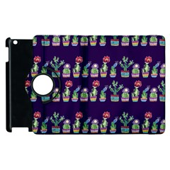 Cute Cactus Blossom Apple Ipad 2 Flip 360 Case