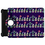 Cute Cactus Blossom Kindle Fire HD Flip 360 Case Front