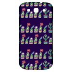 Cute Cactus Blossom Samsung Galaxy S3 S III Classic Hardshell Back Case Front