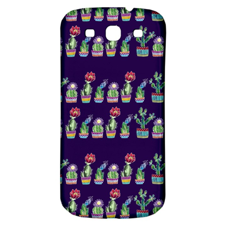 Cute Cactus Blossom Samsung Galaxy S3 S III Classic Hardshell Back Case