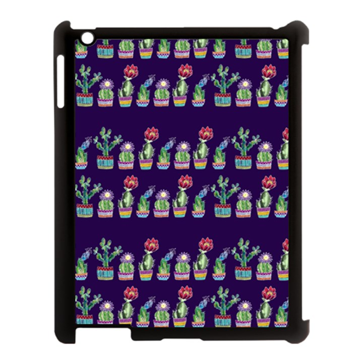 Cute Cactus Blossom Apple iPad 3/4 Case (Black)