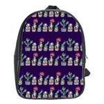 Cute Cactus Blossom School Bags (XL)  Front