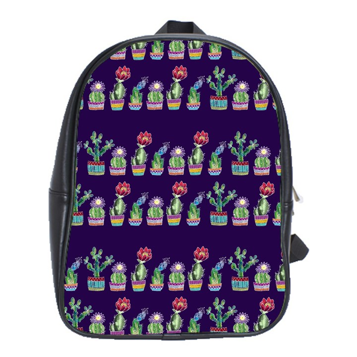 Cute Cactus Blossom School Bags (XL)