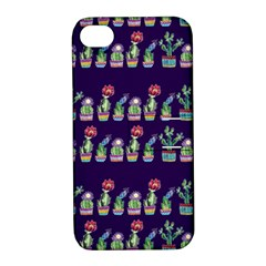 Cute Cactus Blossom Apple Iphone 4/4s Hardshell Case With Stand