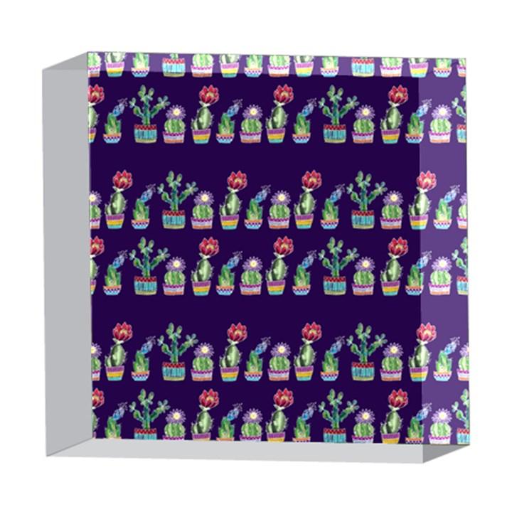 Cute Cactus Blossom 5  x 5  Acrylic Photo Blocks