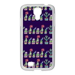 Cute Cactus Blossom Samsung GALAXY S4 I9500/ I9505 Case (White)