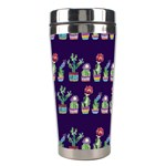 Cute Cactus Blossom Stainless Steel Travel Tumblers Left