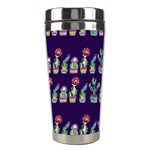 Cute Cactus Blossom Stainless Steel Travel Tumblers Center
