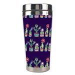 Cute Cactus Blossom Stainless Steel Travel Tumblers Right
