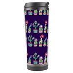 Cute Cactus Blossom Travel Tumbler Left
