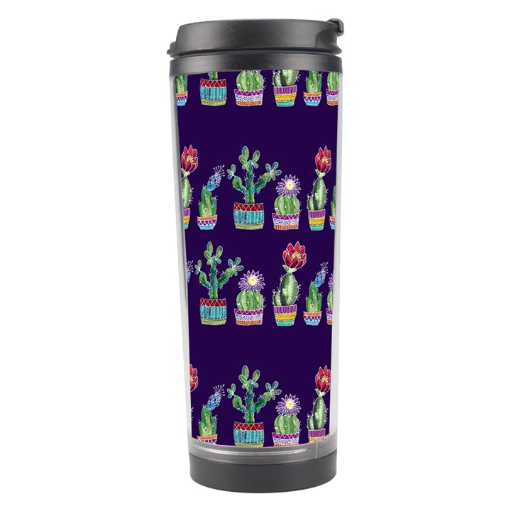 Cute Cactus Blossom Travel Tumbler