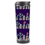 Cute Cactus Blossom Travel Tumbler Right
