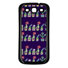 Cute Cactus Blossom Samsung Galaxy S3 Back Case (black)