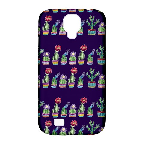 Cute Cactus Blossom Samsung Galaxy S4 Classic Hardshell Case (PC+Silicone)