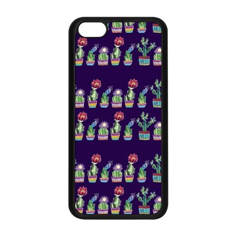 Cute Cactus Blossom Apple iPhone 5C Seamless Case (Black)