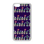 Cute Cactus Blossom Apple iPhone 5C Seamless Case (White) Front