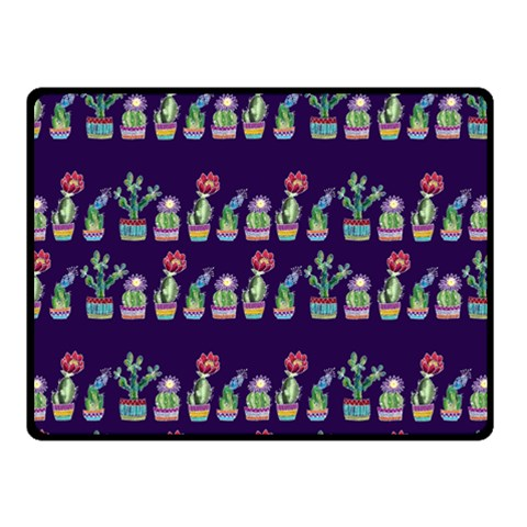 Cute Cactus Blossom Double Sided Fleece Blanket (Small)