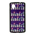 Cute Cactus Blossom Nexus 5 Case (Black) Front