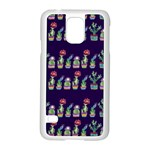 Cute Cactus Blossom Samsung Galaxy S5 Case (White) Front