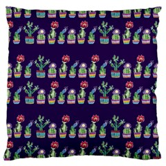 Cute Cactus Blossom Standard Flano Cushion Case (two Sides)