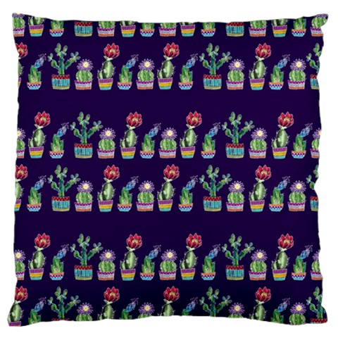 Cute Cactus Blossom Large Flano Cushion Case (Two Sides)