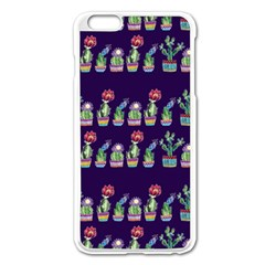 Cute Cactus Blossom Apple Iphone 6 Plus/6s Plus Enamel White Case