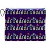 Cute Cactus Blossom Canvas Cosmetic Bag (XXXL) Front