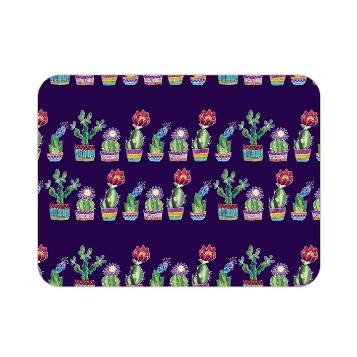 Cute Cactus Blossom Double Sided Flano Blanket (Mini)