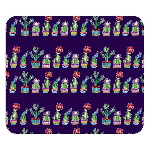 Cute Cactus Blossom Double Sided Flano Blanket (Small)
