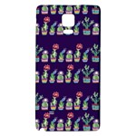 Cute Cactus Blossom Galaxy Note 4 Back Case Front