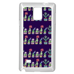 Cute Cactus Blossom Samsung Galaxy Note 4 Case (White)
