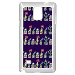 Cute Cactus Blossom Samsung Galaxy Note 4 Case (White) Front