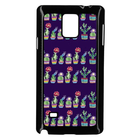 Cute Cactus Blossom Samsung Galaxy Note 4 Case (Black)