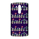 Cute Cactus Blossom LG G3 Back Case Front