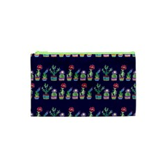 Cute Cactus Blossom Cosmetic Bag (xs)