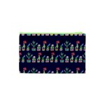 Cute Cactus Blossom Cosmetic Bag (XS) Back