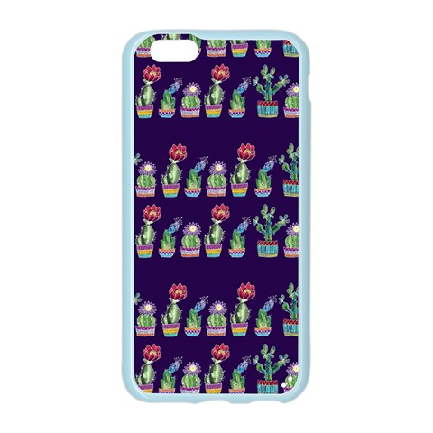 Cute Cactus Blossom Apple Seamless iPhone 6/6S Case (Color)