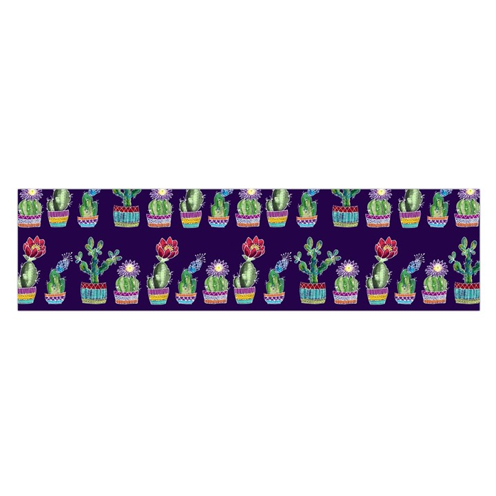 Cute Cactus Blossom Satin Scarf (Oblong)