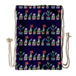 Cute Cactus Blossom Drawstring Bag (Large) Front