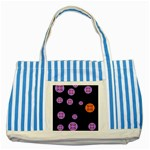 Alphabet Shirtjhjervbret (2)fvgbgnh Striped Blue Tote Bag Front